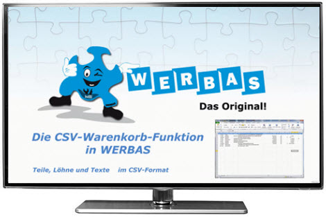 Video: Die CSV-Warenkorb-Funktion in WERBAS