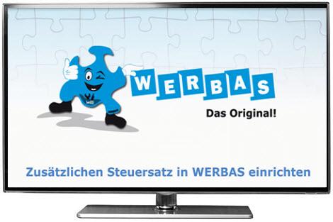 Video: Zusätzlicher Steuersatz in WERBAS